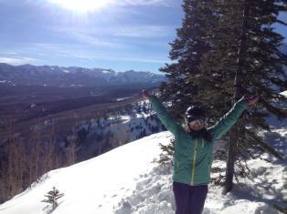 jackie-skiing